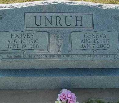 UNRUH, GENEVA - Barton County, Kansas | GENEVA UNRUH - Kansas Gravestone Photos