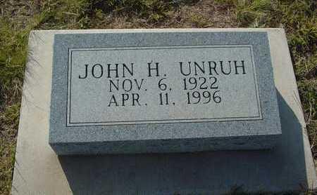 UNRUH, JOHN H - Barton County, Kansas | JOHN H UNRUH - Kansas Gravestone Photos