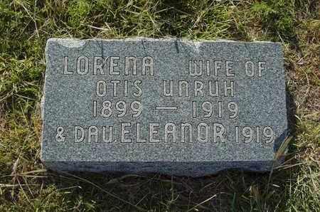 UNRUH, ELEANOR - Barton County, Kansas   ELEANOR UNRUH - Kansas Gravestone Photos