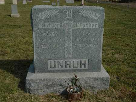 UNRUH, AGNES - Barton County, Kansas | AGNES UNRUH - Kansas Gravestone Photos