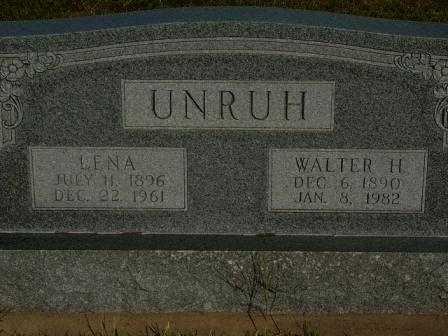 UNRUH, LENA - Barton County, Kansas | LENA UNRUH - Kansas Gravestone Photos