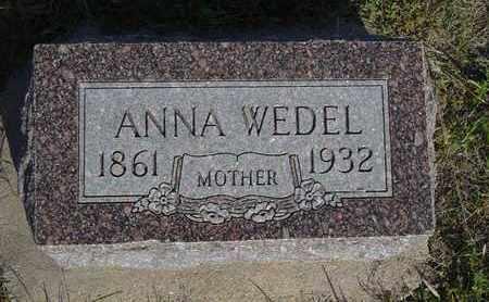 WEDEL, ANNA - Barton County, Kansas   ANNA WEDEL - Kansas Gravestone Photos