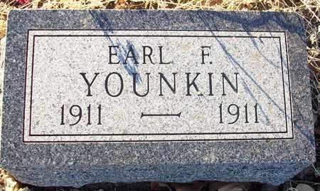 YOUNKIN, EARL F - Barton County, Kansas | EARL F YOUNKIN - Kansas Gravestone Photos