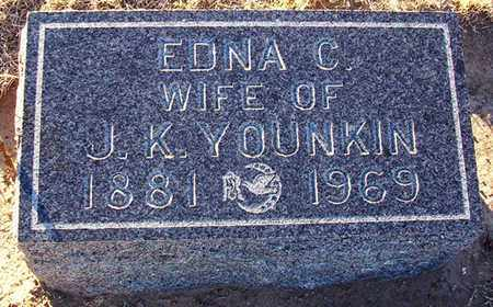 YOUNKIN, EDNA C - Barton County, Kansas | EDNA C YOUNKIN - Kansas Gravestone Photos