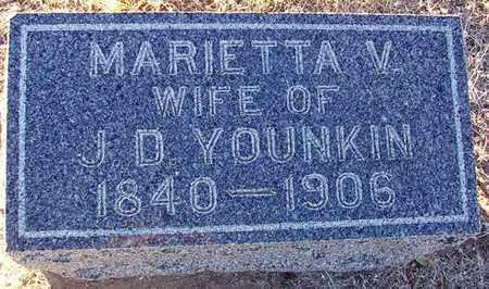 YOUNKIN, MARIETTA V - Barton County, Kansas | MARIETTA V YOUNKIN - Kansas Gravestone Photos