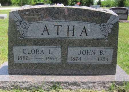 DRAPER ATHA, CLORA L - Bourbon County, Kansas | CLORA L DRAPER ATHA - Kansas Gravestone Photos