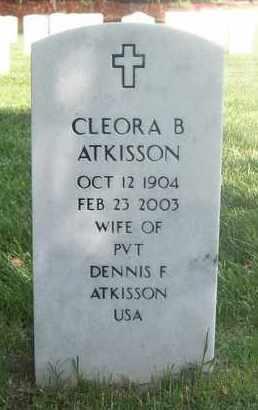 ATKISSON, CLEORA B - Bourbon County, Kansas | CLEORA B ATKISSON - Kansas Gravestone Photos