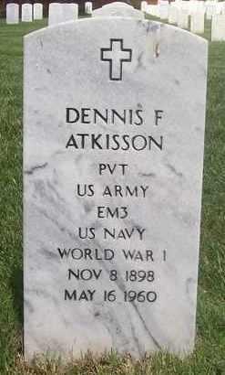 ATKISSON, DENNIS F  (VETERAN WWI) - Bourbon County, Kansas | DENNIS F  (VETERAN WWI) ATKISSON - Kansas Gravestone Photos