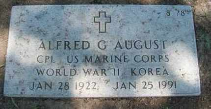 AUGUST, ALFRED G   (VETERAN 2 WARS) - Bourbon County, Kansas | ALFRED G   (VETERAN 2 WARS) AUGUST - Kansas Gravestone Photos