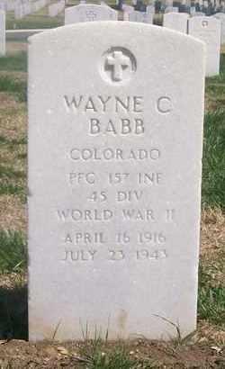 BABB, WAYNE C  (VETERAN WWII, KIA) - Bourbon County, Kansas | WAYNE C  (VETERAN WWII, KIA) BABB - Kansas Gravestone Photos