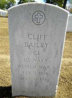 BAILEY, CLFF   (VETERANWWII) - Bourbon County, Kansas   CLFF   (VETERANWWII) BAILEY - Kansas Gravestone Photos
