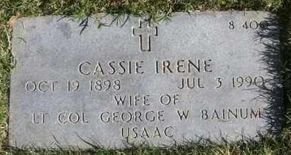 BAINUM, CASSIE IRENE - Bourbon County, Kansas | CASSIE IRENE BAINUM - Kansas Gravestone Photos
