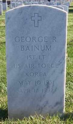 BAINUM, GEORGE R  (VETERAN KOR) - Bourbon County, Kansas | GEORGE R  (VETERAN KOR) BAINUM - Kansas Gravestone Photos