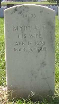 BATES, MYRTLE F - Bourbon County, Kansas   MYRTLE F BATES - Kansas Gravestone Photos