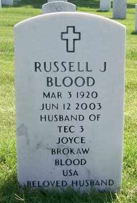 BLOOD, RUSSELL J - Bourbon County, Kansas | RUSSELL J BLOOD - Kansas Gravestone Photos