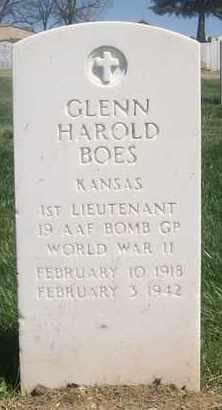 BOES, GLENN HAROLD   (VETERAN WWII, KIA) - Bourbon County, Kansas | GLENN HAROLD   (VETERAN WWII, KIA) BOES - Kansas Gravestone Photos