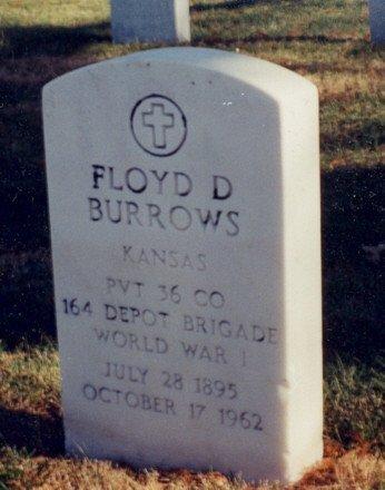 BURROWS, FLOYD D  (VETERAN WWI) - Bourbon County, Kansas | FLOYD D  (VETERAN WWI) BURROWS - Kansas Gravestone Photos
