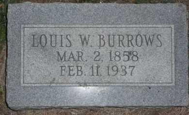 BURROWS, LEWIS N - Bourbon County, Kansas   LEWIS N BURROWS - Kansas Gravestone Photos
