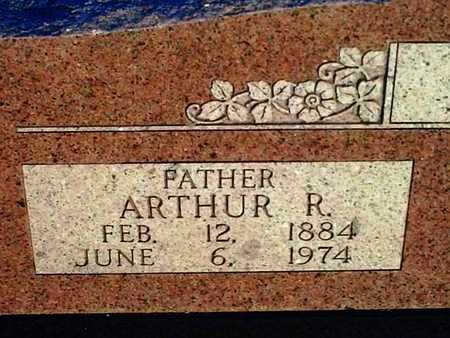 BYBEE, AUTHER R (CLOSE UP) - Bourbon County, Kansas | AUTHER R (CLOSE UP) BYBEE - Kansas Gravestone Photos