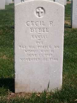BYBEE, CECIL RAY   (VETERAN WWII) - Bourbon County, Kansas   CECIL RAY   (VETERAN WWII) BYBEE - Kansas Gravestone Photos
