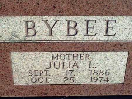 HALL BYBEE, JULIA L (CLOSE UP) - Bourbon County, Kansas | JULIA L (CLOSE UP) HALL BYBEE - Kansas Gravestone Photos