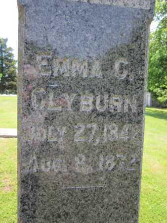CLYBURN, EMMA C (CLOSE UP) - Bourbon County, Kansas | EMMA C (CLOSE UP) CLYBURN - Kansas Gravestone Photos