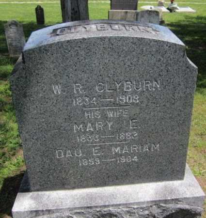 CLYBURN, MARY E - Bourbon County, Kansas | MARY E CLYBURN - Kansas Gravestone Photos
