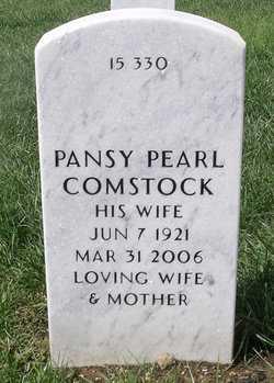HARRIS COMSTOCK, PANSY PEARL - Bourbon County, Kansas | PANSY PEARL HARRIS COMSTOCK - Kansas Gravestone Photos