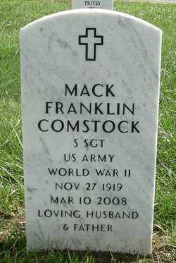 COMSTOCK, MACK FRANKLIN   (VETERAN WWII) - Bourbon County, Kansas | MACK FRANKLIN   (VETERAN WWII) COMSTOCK - Kansas Gravestone Photos