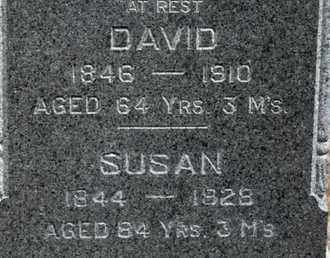 JONES, DAVID AND SUSAN (CLOSE UP) - Bourbon County, Kansas | DAVID AND SUSAN (CLOSE UP) JONES - Kansas Gravestone Photos