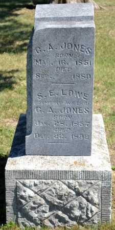 JONES, S E - Bourbon County, Kansas | S E JONES - Kansas Gravestone Photos