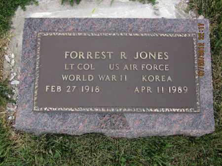 JONES, FORREST REAL  (VETERAN 2 WARS) - Bourbon County, Kansas   FORREST REAL  (VETERAN 2 WARS) JONES - Kansas Gravestone Photos