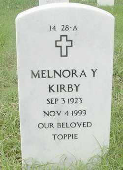 KITCHEN KIRBY, MELNORA Y - Bourbon County, Kansas   MELNORA Y KITCHEN KIRBY - Kansas Gravestone Photos