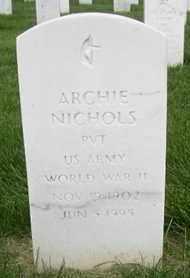 "NICHOLS, DAVID ""ARCHIE""   (VETERAN WWII) - Bourbon County, Kansas | DAVID ""ARCHIE""   (VETERAN WWII) NICHOLS - Kansas Gravestone Photos"