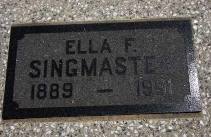 SINGMASTER, ELLA FAYE (CLOSE UP) - Bourbon County, Kansas | ELLA FAYE (CLOSE UP) SINGMASTER - Kansas Gravestone Photos
