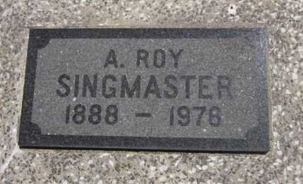"SINGMASTER, ALBERT ""ROY"" (CLOSE UP) - Bourbon County, Kansas 