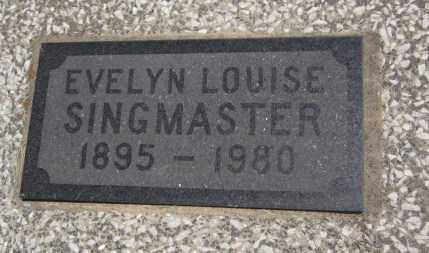 KENNEDY SINGMASTER, EVELYN LOUISE (CLOSE UP) - Bourbon County, Kansas | EVELYN LOUISE (CLOSE UP) KENNEDY SINGMASTER - Kansas Gravestone Photos