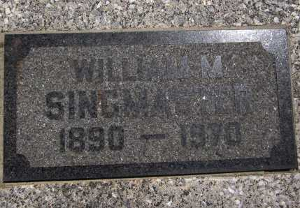 "SINGMASTER, WILLIAM MANLEY ""WILL"" (CLOSE UP) - Bourbon County, Kansas | WILLIAM MANLEY ""WILL"" (CLOSE UP) SINGMASTER - Kansas Gravestone Photos"
