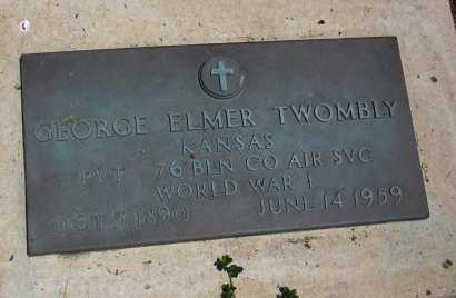 TWOMBY, GEORGE ELMER   (VETERAN WWI) - Bourbon County, Kansas | GEORGE ELMER   (VETERAN WWI) TWOMBY - Kansas Gravestone Photos
