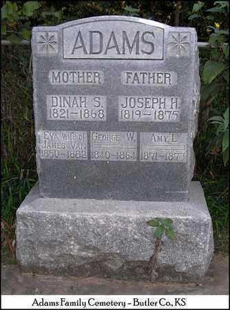 ADAMS, DINAH S - Butler County, Kansas | DINAH S ADAMS - Kansas Gravestone Photos