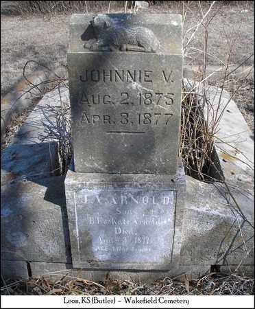 ARNOLD, JOHNNIE V - Butler County, Kansas | JOHNNIE V ARNOLD - Kansas Gravestone Photos