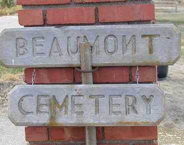 *BEAUMONT CEMETERY,  - Butler County, Kansas |  *BEAUMONT CEMETERY - Kansas Gravestone Photos