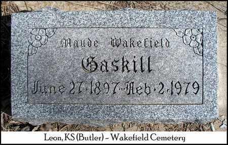 GASKILL, MAUDE - Butler County, Kansas   MAUDE GASKILL - Kansas Gravestone Photos