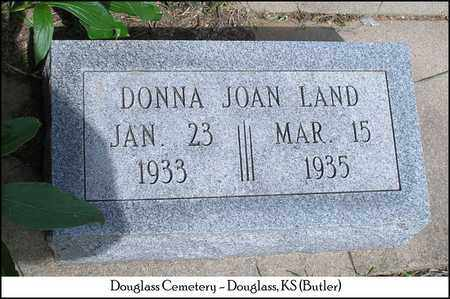 LAND, DONNA JOAN - Butler County, Kansas   DONNA JOAN LAND - Kansas Gravestone Photos