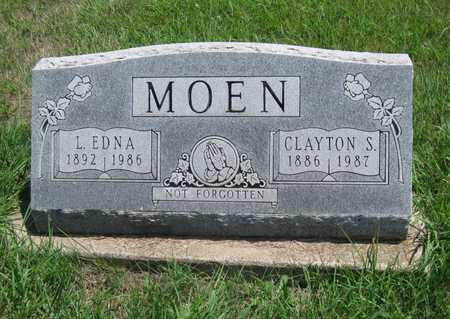 MOEN, CLAYTON SELMAR - Butler County, Kansas | CLAYTON SELMAR MOEN - Kansas Gravestone Photos