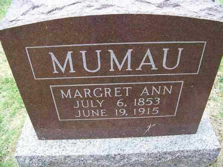 NICEWANDER MUMAU, MARGARET ANN - Butler County, Kansas | MARGARET ANN NICEWANDER MUMAU - Kansas Gravestone Photos