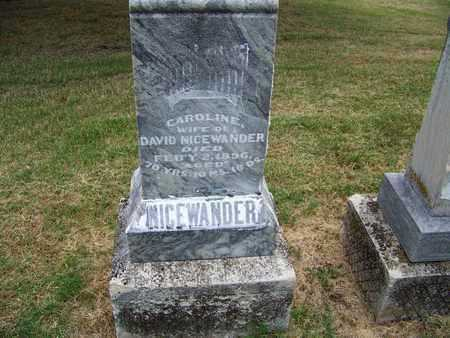 NICEWANDER, CAROLINE - Butler County, Kansas   CAROLINE NICEWANDER - Kansas Gravestone Photos
