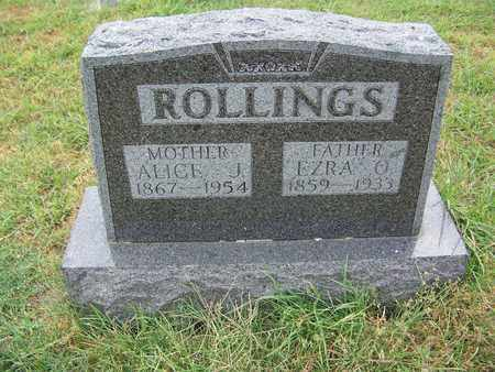 ROLLINGS, ALICE JANE - Butler County, Kansas | ALICE JANE ROLLINGS - Kansas Gravestone Photos