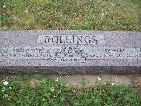 ROLLINGS, BERNARDINE - Butler County, Kansas | BERNARDINE ROLLINGS - Kansas Gravestone Photos