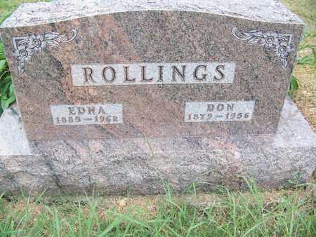 COREY ROLLINGS, EDNA MAY - Butler County, Kansas | EDNA MAY COREY ROLLINGS - Kansas Gravestone Photos